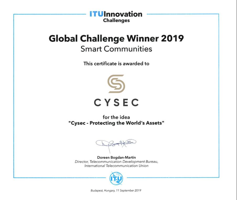 CYSEC award for innovation